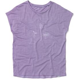 Houdini Activist Message T-shirt Femme, lavender woods